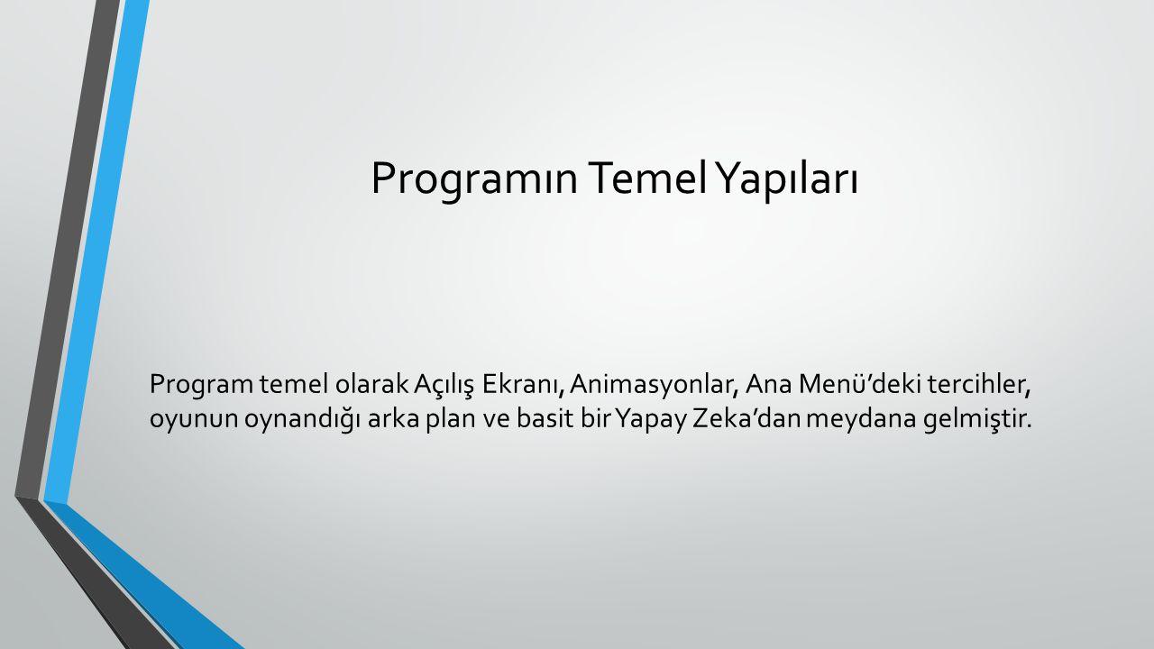 Programın Temel Yapıları