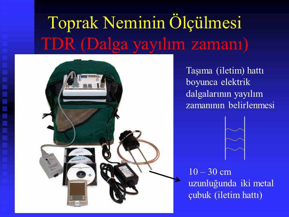 Toprak Neminin Ölçülmesi TDR (Dalga yayılım zamanı)