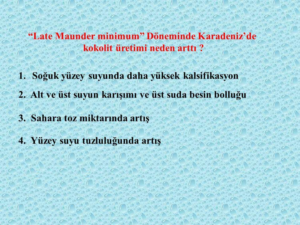 Late Maunder minimum Döneminde Karadeniz'de