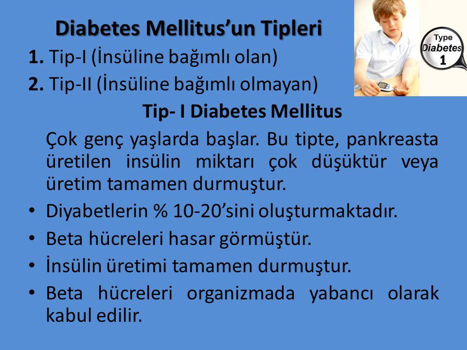 Diabetes Mellitus'un Tipleri