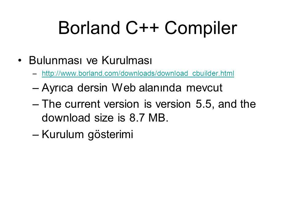 Borland C++ Compiler Bulunması ve Kurulması