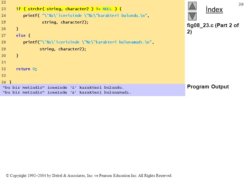 fig08_23.c (Part 2 of 2) Program Output