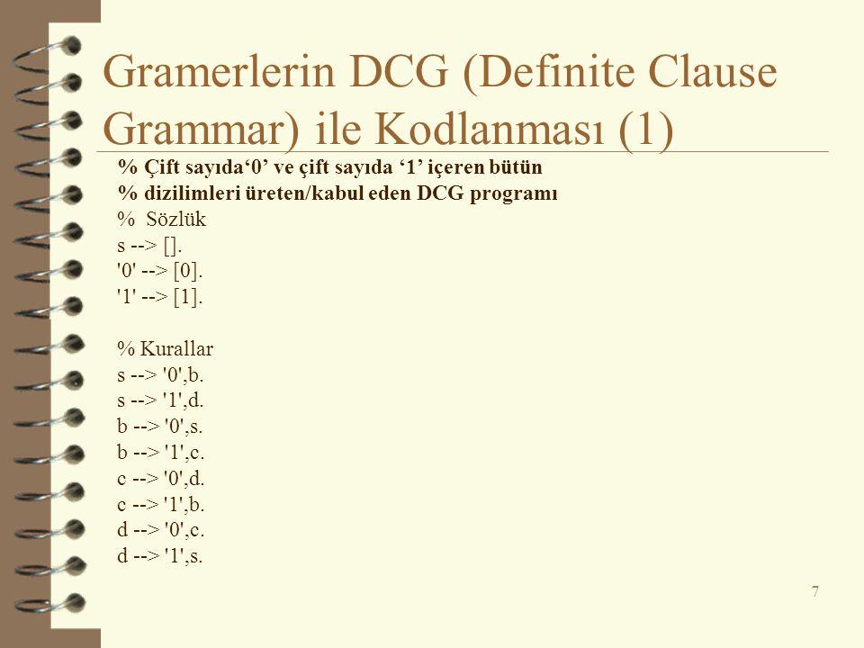 Gramerlerin DCG (Definite Clause Grammar) ile Kodlanması (1)