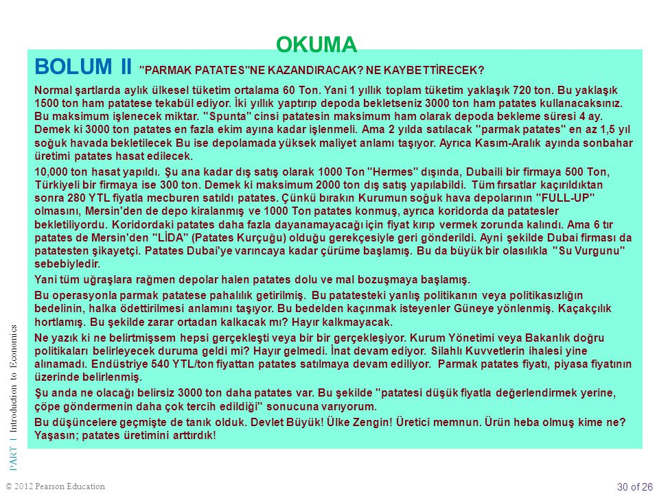 BOLUM II PARMAK PATATES NE KAZANDIRACAK NE KAYBETTİRECEK