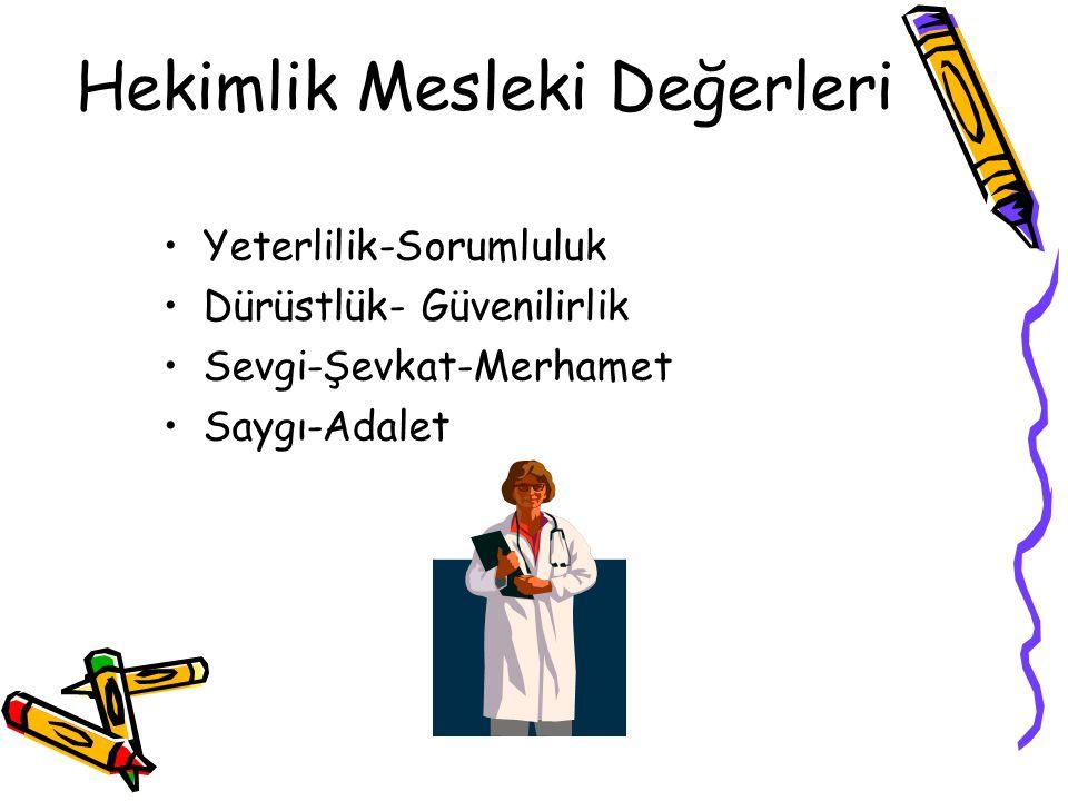 Hekimlik Mesleki Değerleri