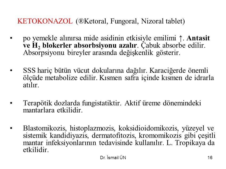 KETOKONAZOL (®Ketoral, Fungoral, Nizoral tablet)