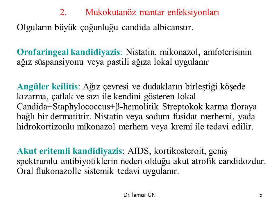 2. Mukokutanöz mantar enfeksiyonları