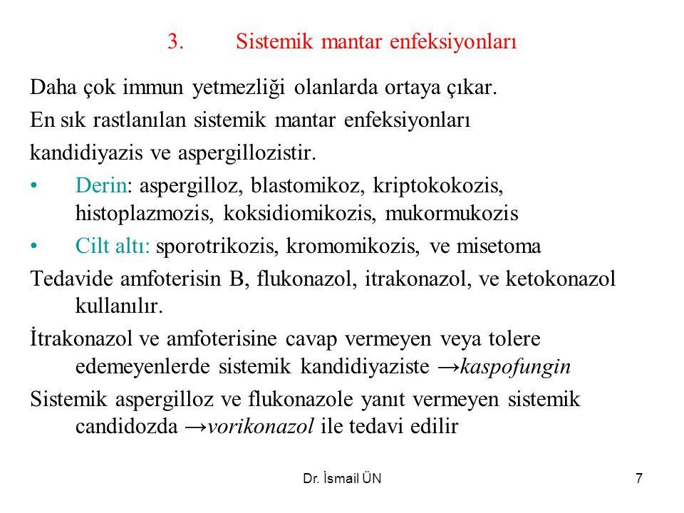 3. Sistemik mantar enfeksiyonları