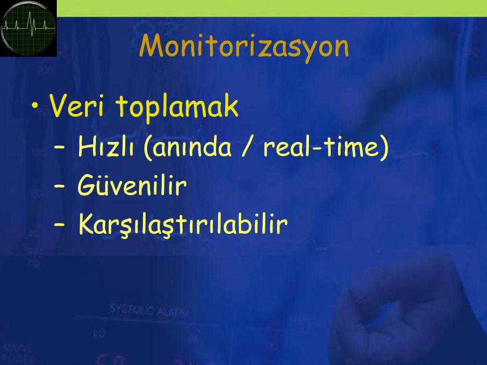 Monitorizasyon Veri toplamak Hızlı (anında / real-time) Güvenilir