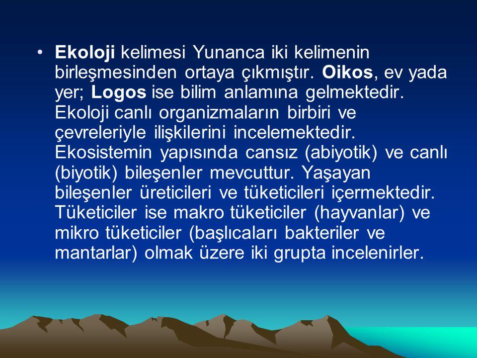 Ekoloji kelimesi Yunanca iki kelimenin birleşmesinden ortaya çıkmıştır