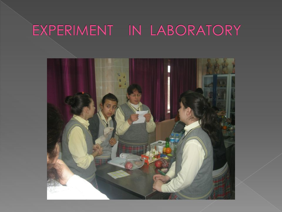 EXPERIMENT IN LABORATORY