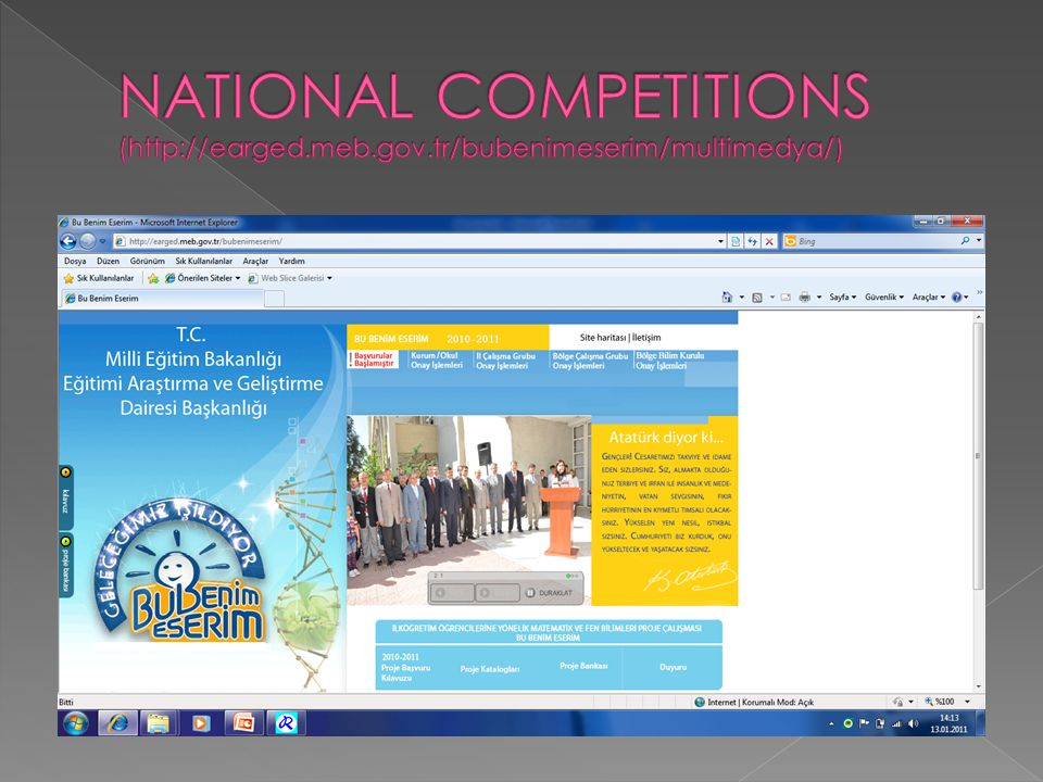 NATIONAL COMPETITIONS (http://earged. meb. gov