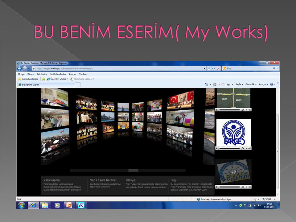 BU BENİM ESERİM( My Works)