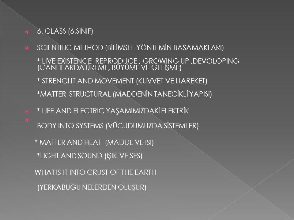 6. CLASS (6.SINIF)