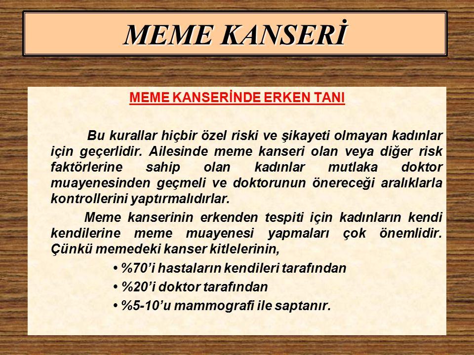 MEME KANSERİNDE ERKEN TANI