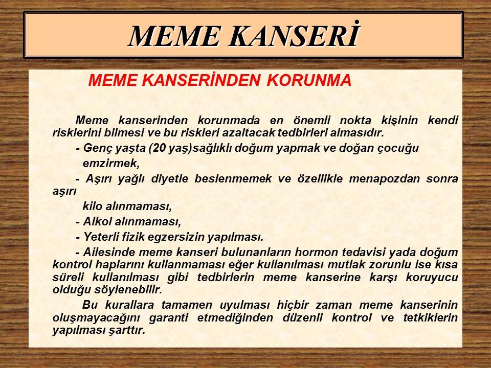 MEME KANSERİ MEME KANSERİNDEN KORUNMA
