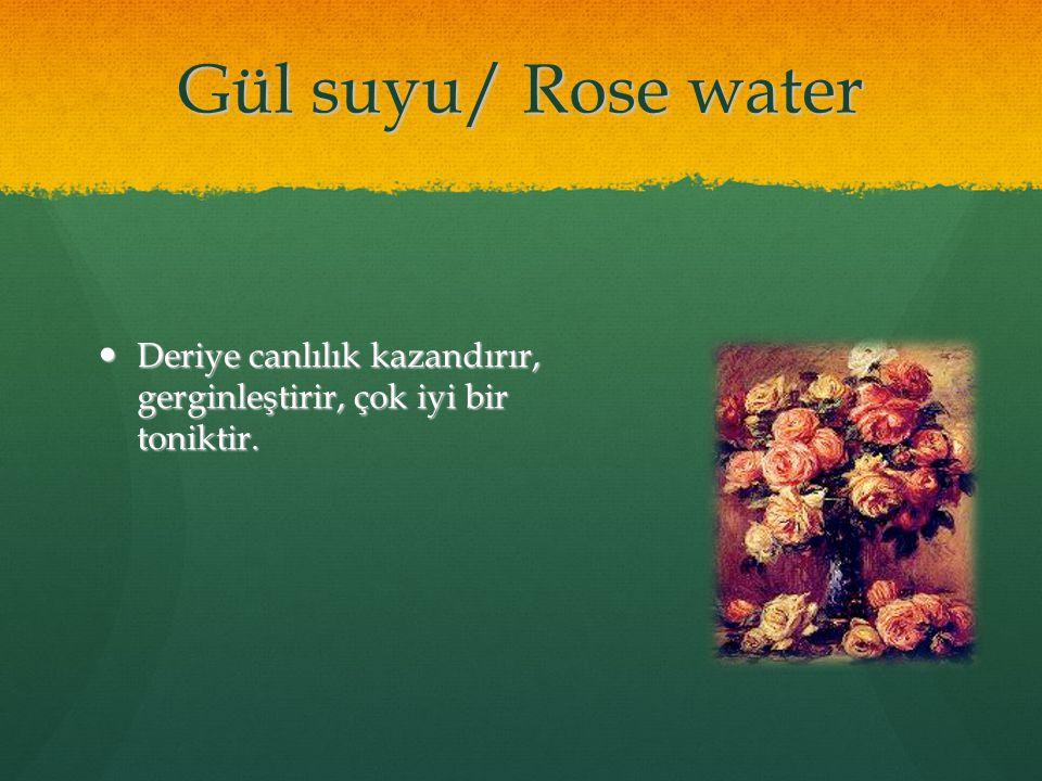 09/05/11 Gül suyu/ Rose water. Deriye canlılık kazandırır, gerginleştirir, çok iyi bir toniktir.