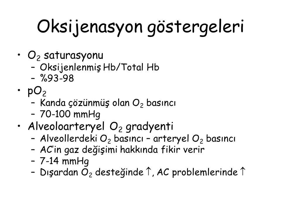 Oksijenasyon göstergeleri