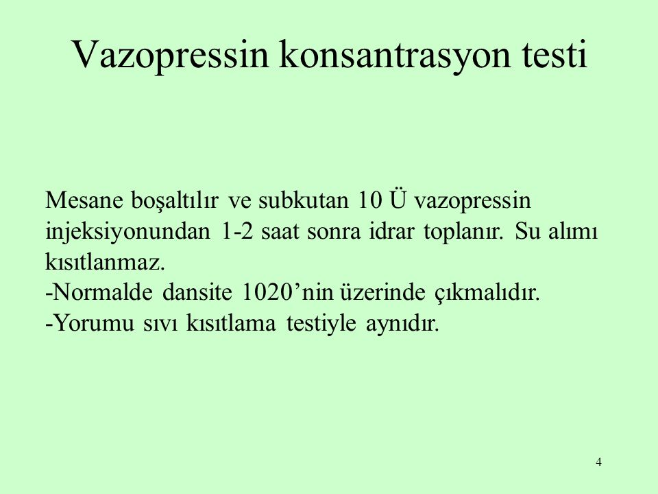 Vazopressin konsantrasyon testi