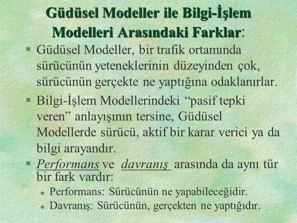 Güdüsel Modeller ile Bilgi-İşlem Modelleri Arasındaki Farklar: