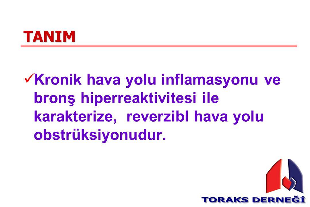TANIM Kronik hava yolu inflamasyonu ve bronş hiperreaktivitesi ile karakterize, reverzibl hava yolu obstrüksiyonudur.