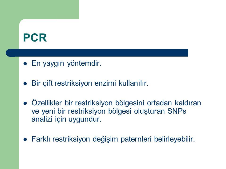 PCR En yaygın yöntemdir. Bir çift restriksiyon enzimi kullanılır.