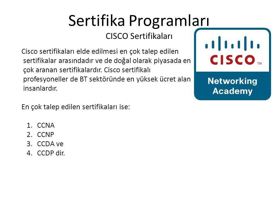 Sertifika Programları CISCO Sertifikaları