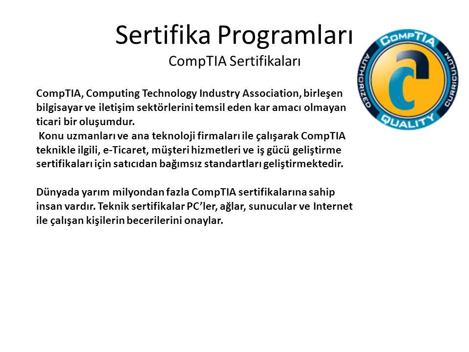 Sertifika Programları CompTIA Sertifikaları