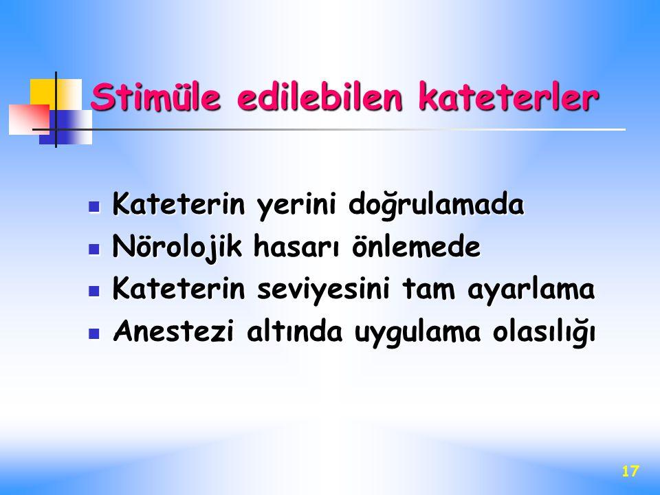 Stimüle edilebilen kateterler