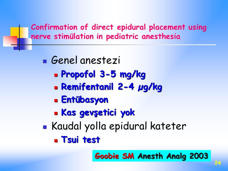 Kaudal yolla epidural kateter
