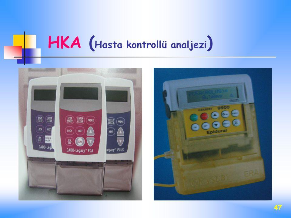 HKA (Hasta kontrollü analjezi)