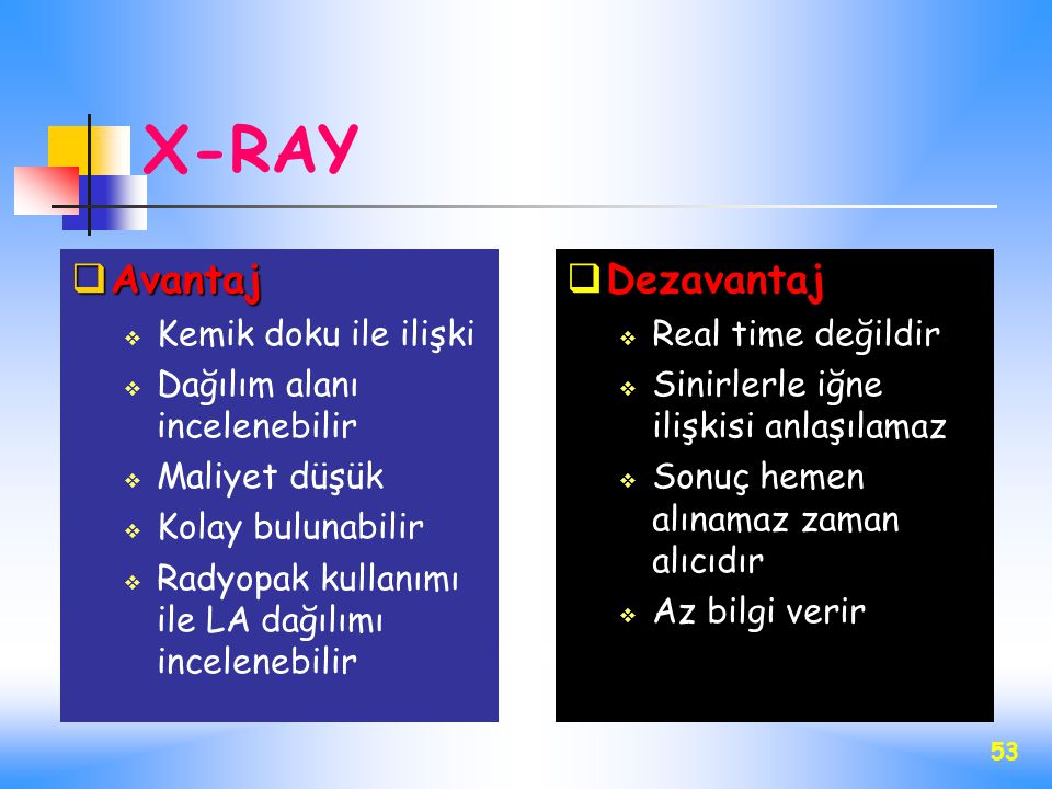 X-RAY Avantaj Dezavantaj Kemik doku ile ilişki