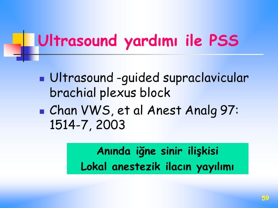 Ultrasound yardımı ile PSS