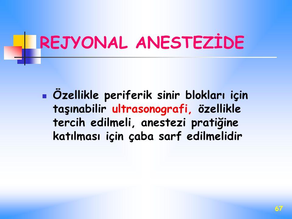 REJYONAL ANESTEZİDE