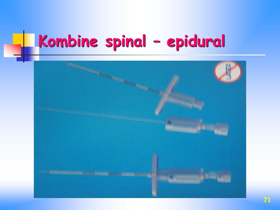 Kombine spinal – epidural