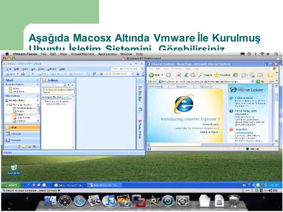 Aşağıda Macosx Altında Vmware İle Kurulmuş Ubuntu İşletim Sistemini Görebilirsiniz
