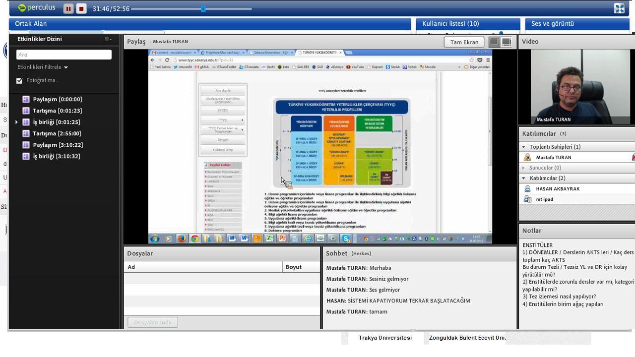 Platform (LMS) ve Canlı Yayın Araçları