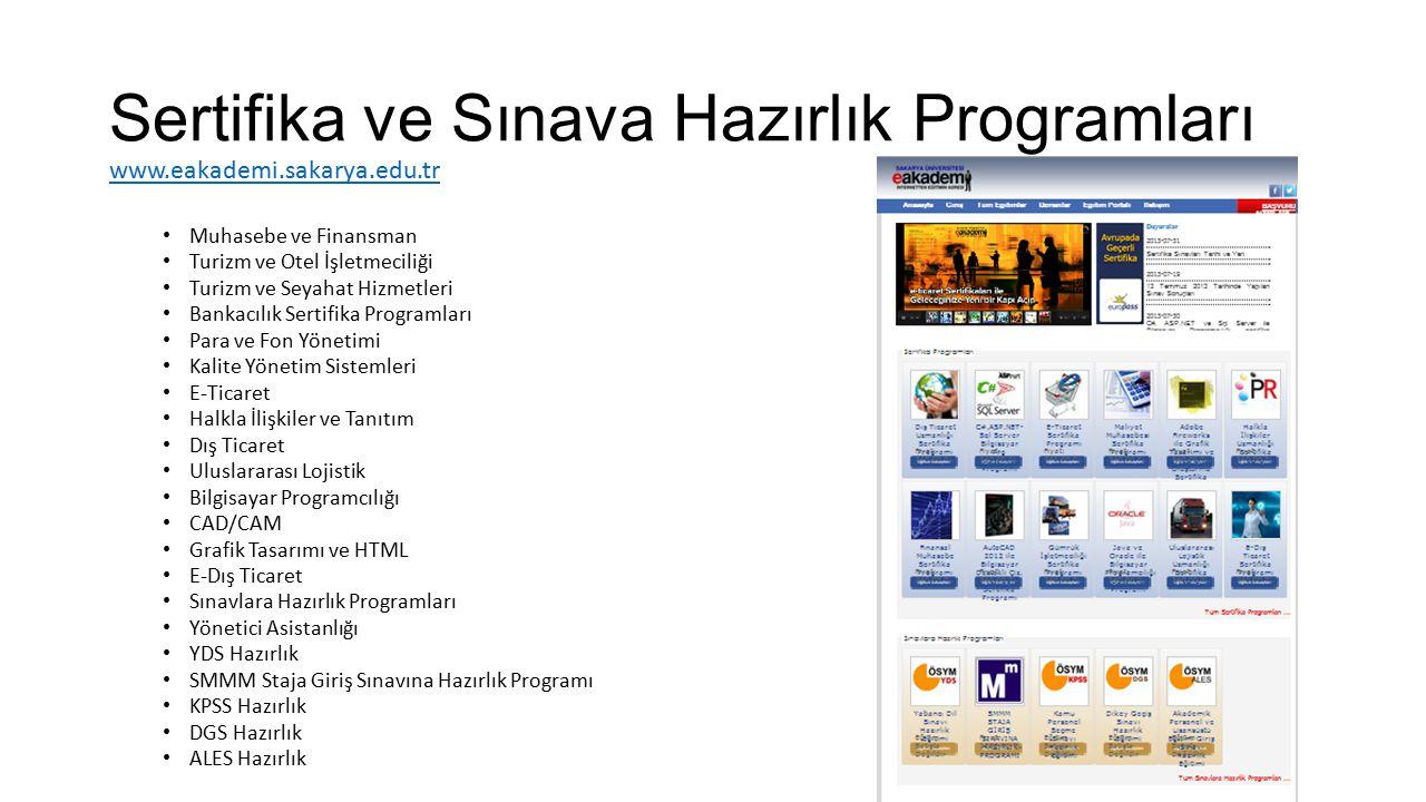 Sertifika ve Sınava Hazırlık Programları