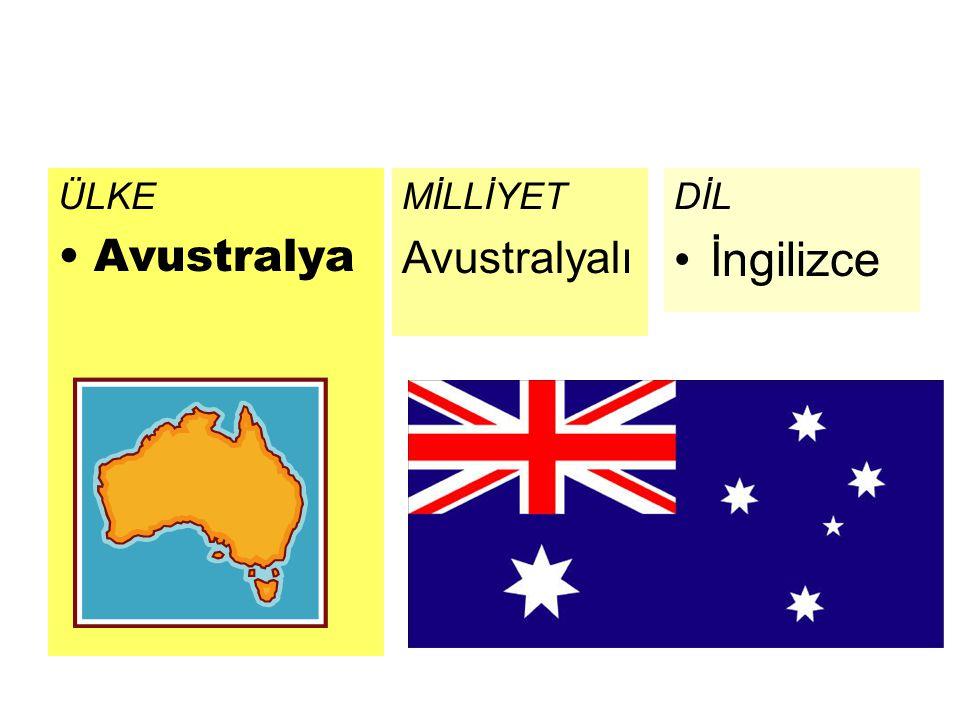 ÜLKE Avustralya MİLLİYET Avustralyalı DİL İngilizce