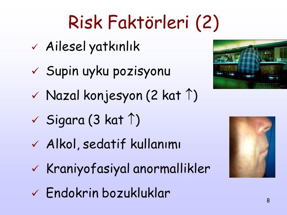 Risk Faktörleri (2) Supin uyku pozisyonu Nazal konjesyon (2 kat )