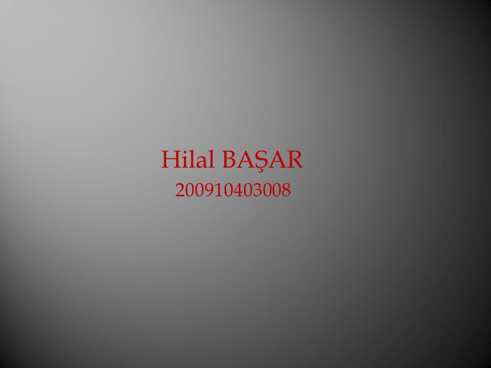 Hilal BAŞAR 200910403008