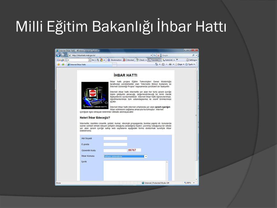 Milli Eğitim Bakanlığı İhbar Hattı