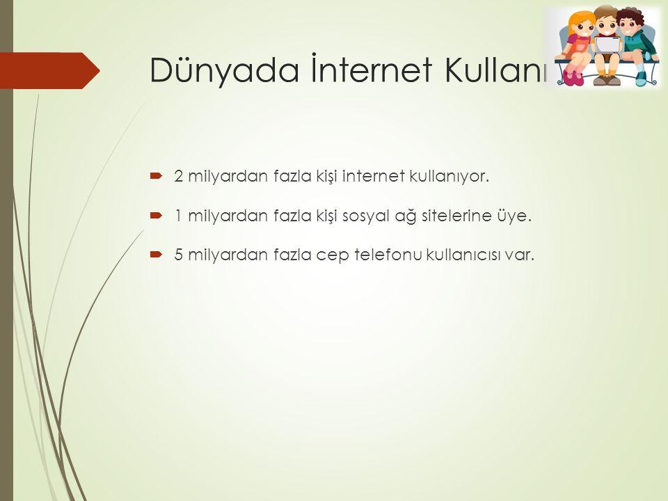 Dünyada İnternet Kullanımı