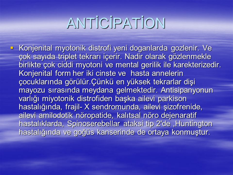 ANTİCİPATİON