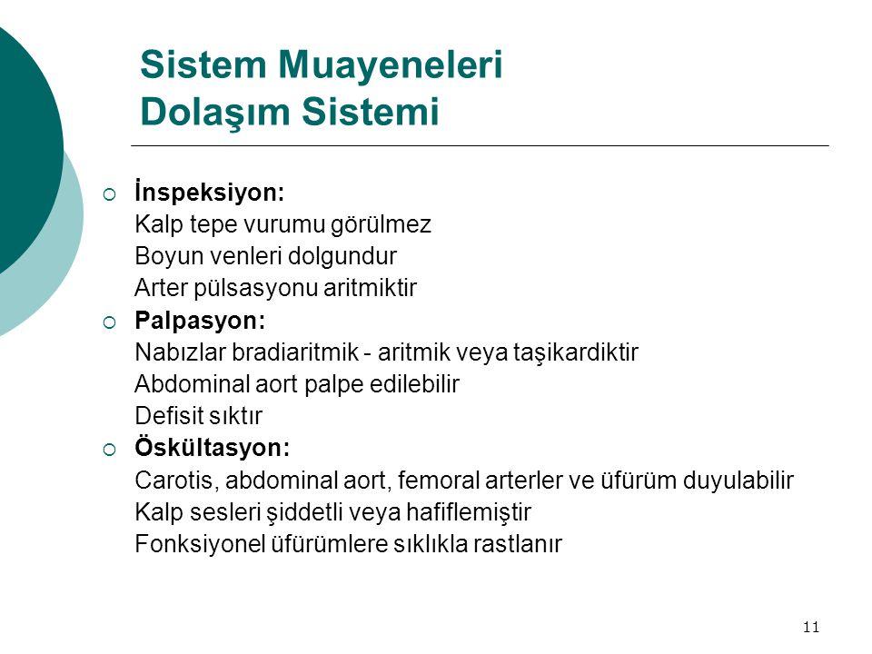 Sistem Muayeneleri Dolaşım Sistemi