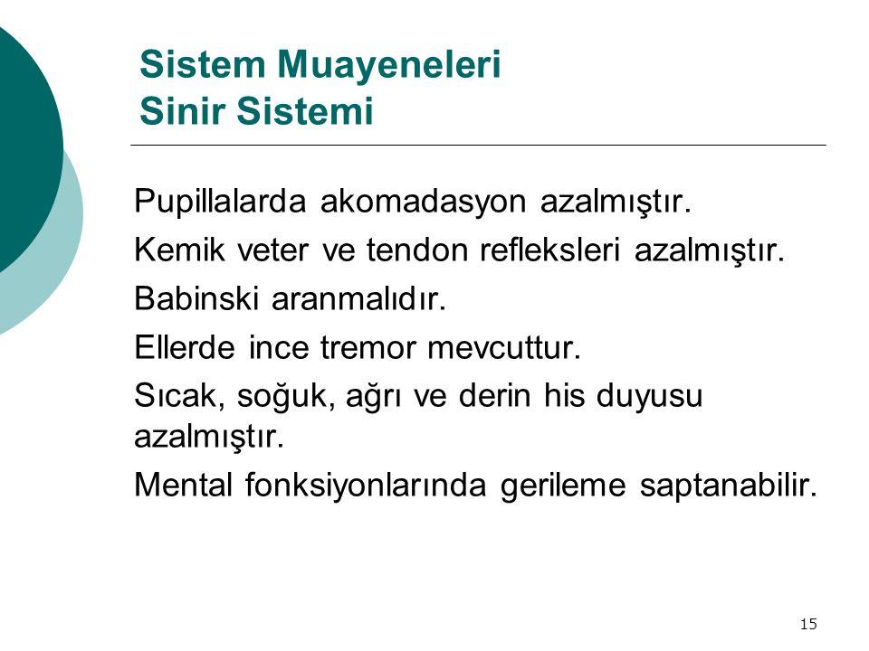 Sistem Muayeneleri Sinir Sistemi