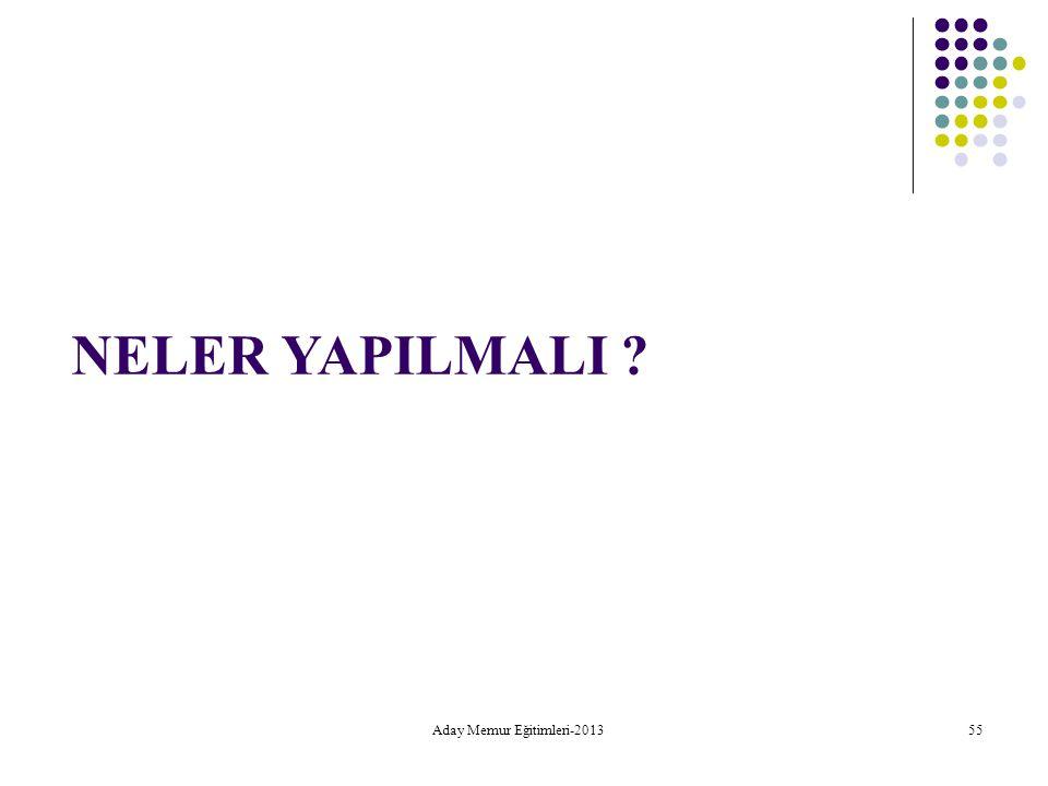 NELER YAPILMALI Aday Memur Eğitimleri-2013 55