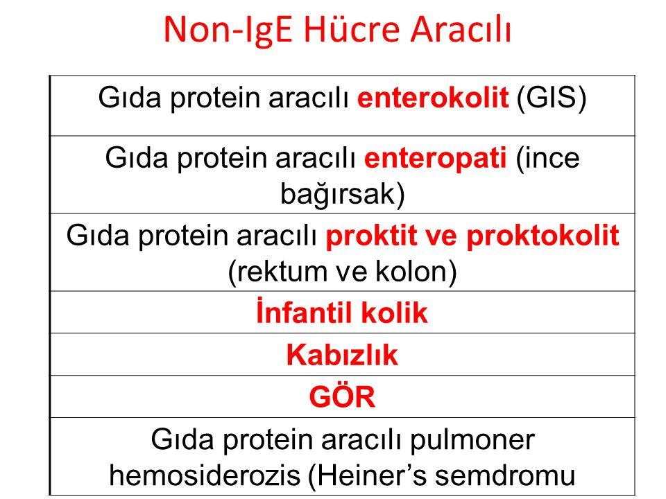 Non-IgE Hücre Aracılı Gıda protein aracılı enterokolit (GIS)