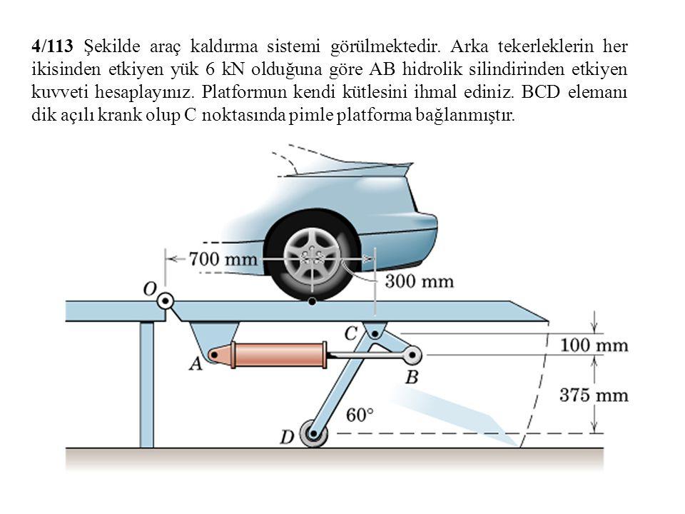 4/113 Şekilde araç kaldırma sistemi görülmektedir