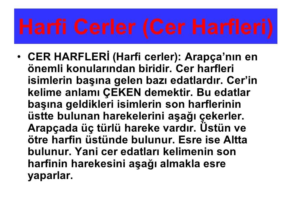 Harfi Cerler (Cer Harfleri)